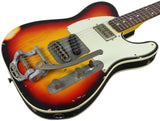 Nash TC-63 Guitar, 3 Tone Sunburst, Bigsby, Lollartron Neck