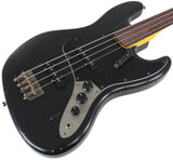 Nash JB-63 Bass Guitar, Black, Fretless