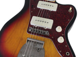 Nash JM-63 Jazzmaster Guitar, 3 Tone Sunburst, Binding, Block Inlay