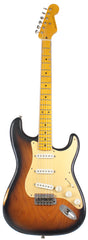 Nash S-57 Guitar, 2-Tone Burst - Gold Anodized Pickguard