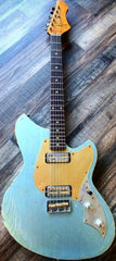 Novo Serus TC Guitar, Ice Blue Metallic