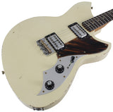 Novo Serus TC Guitar, Olympic White, Firestripe