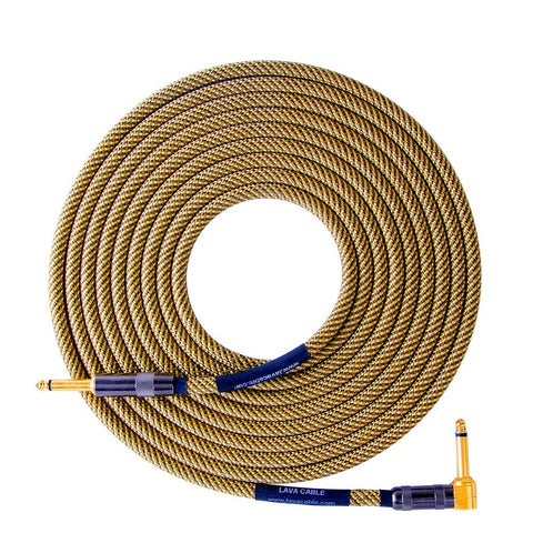 Lava Vintage ELC Tweed 20ft Straight/Right Angle Guitar Cable