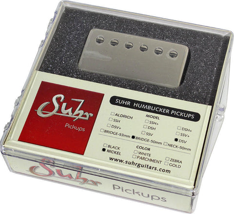 Suhr DSV Bridge Pickup, Nickel, 50mm