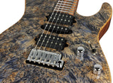 . Suhr Modern Burl Maple  - Trans Blue Tint