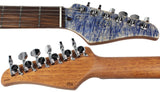 . Suhr Modern Waterfall Burl Maple HH Guitar - Trans Blue