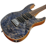 . Suhr Modern Waterfall Burl Maple HSH Guitar - Trans Blue