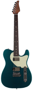 Suhr Classic T HH Roasted Select Guitar, Flamed, Rosewood, Ocean Turquoise