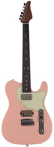 Suhr Classic T HH Roasted Select Guitar, Flamed, Rosewood, Shell Pink