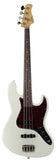 Suhr Classic J Bass Guitar, Olympic White