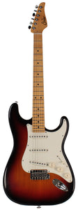 Suhr Classic S Antique Guitar, 3 Tone Burst, Maple