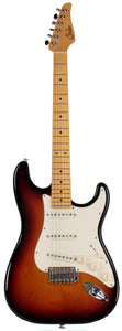Suhr Classic S Guitar, 3 Tone Burst, Maple