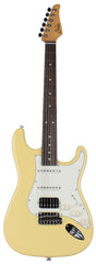 Suhr Classic S HSS Guitar, Vintage Yellow, Rosewood