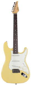 Suhr Classic S Guitar, Vintage Yellow, Rosewood
