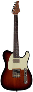 Suhr Classic T HS Roasted Select Guitar, Flamed, Rosewood, 3-Tone Burst