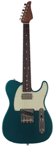 Suhr Classic T HS Roasted Select Guitar, Flamed, Rosewood, Ocean Turquoise