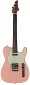 Suhr Classic T Roasted Select Guitar, Flamed, Rosewood, Shell Pink