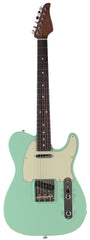 Suhr Classic T Roasted Select Guitar, Flamed, Rosewood, Surf Green
