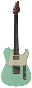 Suhr Classic T HS Roasted Select Guitar, Flamed, Rosewood, Surf Green