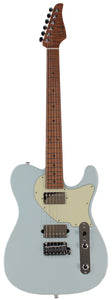 Suhr Classic T HH Roasted Select Guitar, Flamed, Maple, Sonic Blue