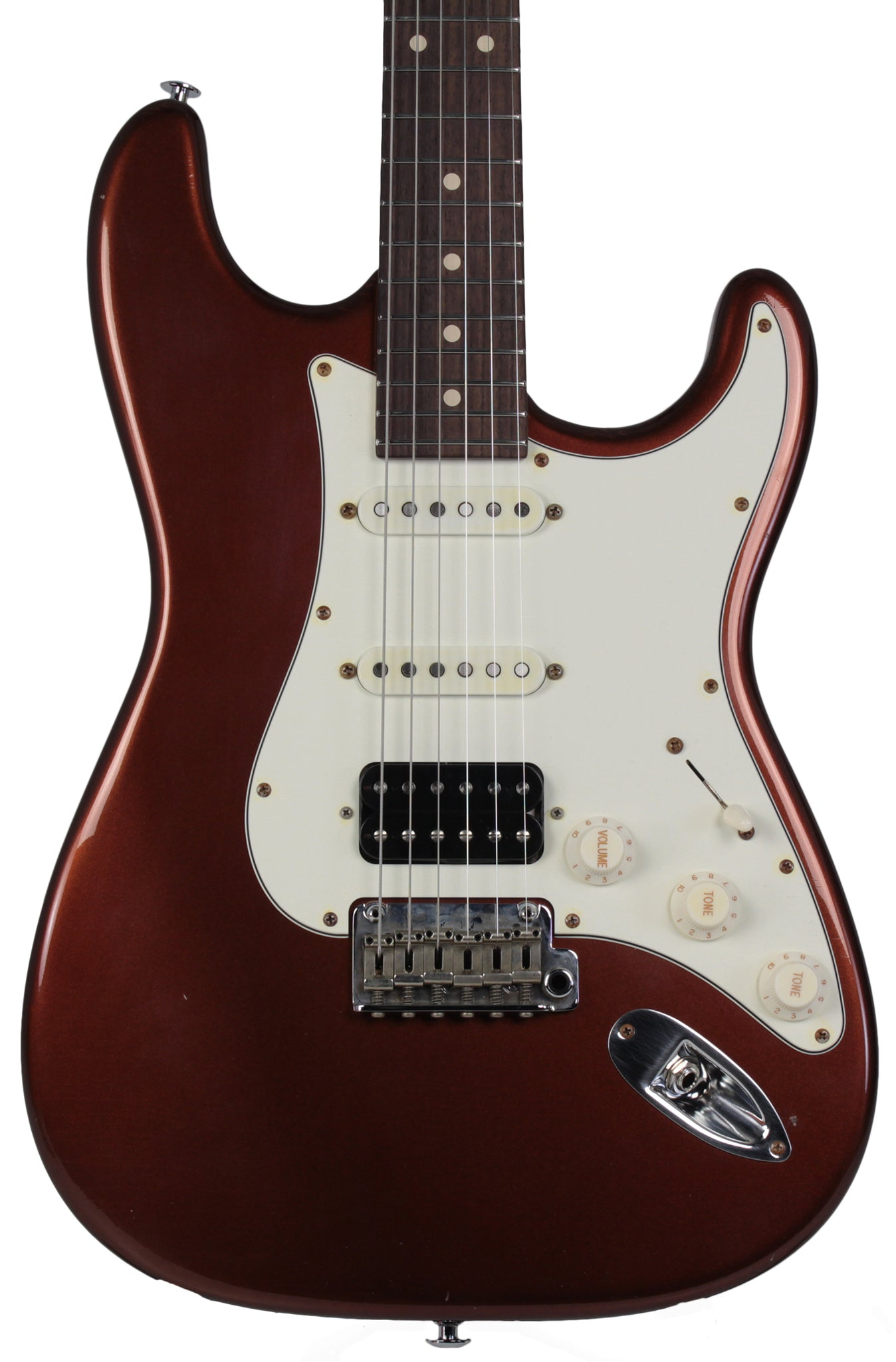 suhr classic antique pro limited hss guitar root beer metallic