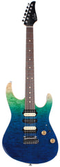 Suhr Modern Plus Curly Limited Guitar, Aqua Blue Gradient