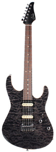 Suhr Modern Select Guitar, Quilted Maple, Trans Charcoal
