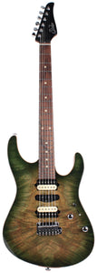 Suhr Modern Select Guitar, Trans Green, Burl