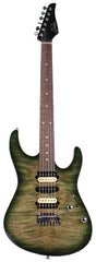 Suhr Modern Select Guitar, Flamed Maple, Trans Green Burst