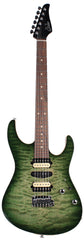 Suhr Modern Select Guitar, Quilted Maple, Trans Green Burst