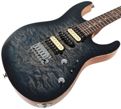 Suhr Modern Select Guitar, Quilted Maple, Trans Whale Blue Burst