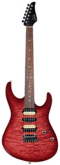 Suhr Modern Select Guitar, Quilted Maple, Trans Wine