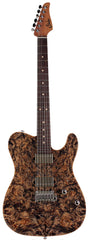 Suhr Modern T Select 2021 Guitar, Trans Blue Denim Slate Burl