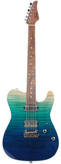 Suhr Modern T Select Guitar, Aqua Blue Gradient