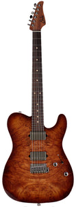 Suhr Modern T Select 2021 Guitar, Natural Burst Burl