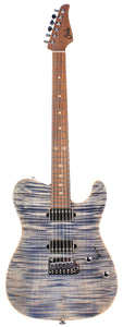 Suhr Modern T Select Guitar, Trans Blue Denim Slate