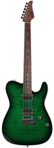 Suhr Modern T Select Guitar, Trans Green Burst