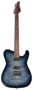 Suhr Modern T Select Guitar, Faded Trans Whale Blue Burst