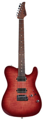 Suhr Modern T Select Guitar, Faded Trans Wine Burst