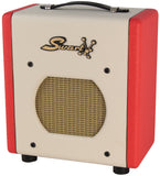 Swart Space Tone Atomic Jr Amp, Ivory, Red