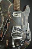 Trussart Deluxe SteelCaster - Rust O Matic Pinstripe - B16 Bigsby