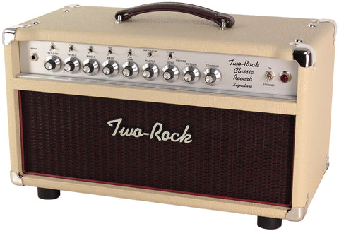 Two-Rock Classic Reverb Signature 50 Tube Rectified Head, Blonde, Silverface