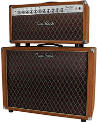 Two-Rock Silver Sterling Signature 150/75 Head/Cab, Golden Brown Suede, Diamond Grille