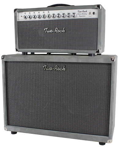 Two-Rock Silver Sterling Signature 150/75 Head/Cab, Silver Suede
