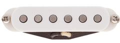 Lollar Strat Blonde Pickup, Staggered, Bridge, White