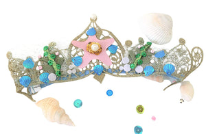 Mermaid Tiara Crown - Hand Sewn