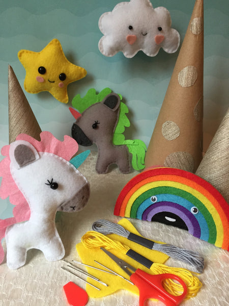 Everything Is Unicorn and Rainbows Sewing Craft Kit