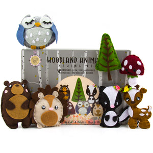 Kids Sewing Kit: Woodland Animal Crafts for Girls and Boys Educational Sewing for Kids