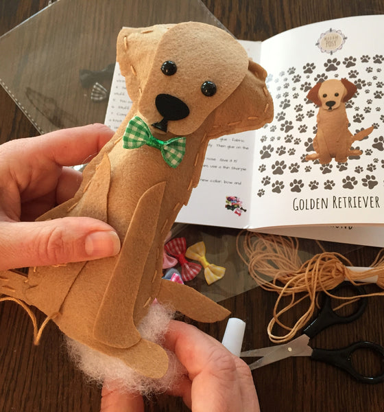 Kids Sewing Kits Learn to Sew Your Own Stuffed Dogs Animal Sewing Craft Kit for Boys and Girls Ages 7-12