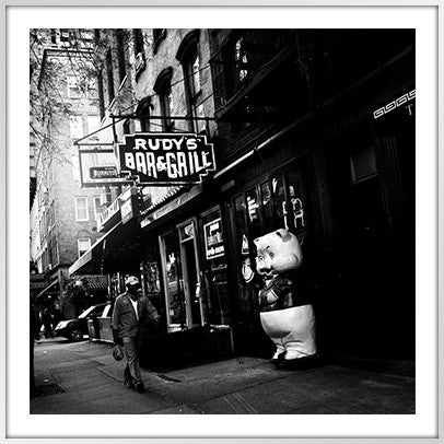 Rudy's Bar Outside, Hell's Kitchen. NYC